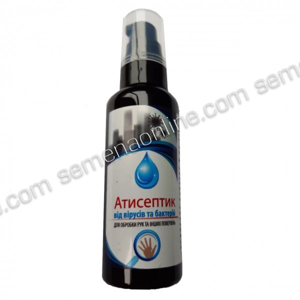 Антибактеріальний засіб, спиртовий антисептик, 60мл.