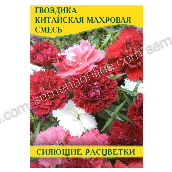 Семена гвоздики Китайская Махровая Смесь, 50 г