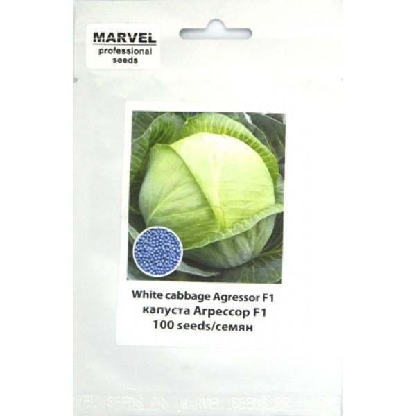 Капуста белокочанная Агрессор F1 (Польша SG), 100 семян