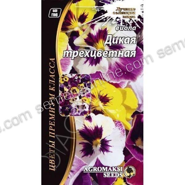 Насіння квітів Віола Дика триколірна, 0,1 г