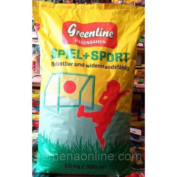Семена травы газонной Игровая + Спорт ТМ Greenline, Германия, 10 кг