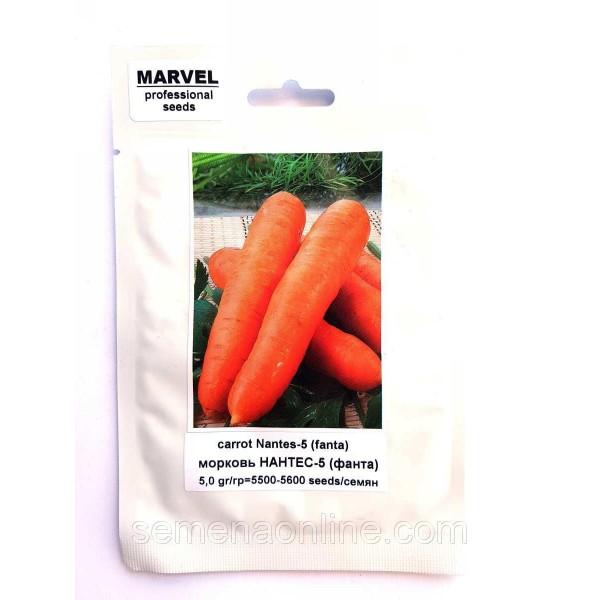Семена моркови Нантес-5 (Польша), 5г