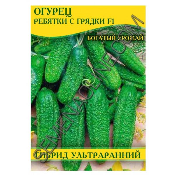 Семена огурца Ребятки с Грядки F1, самоопыляемые, 100г