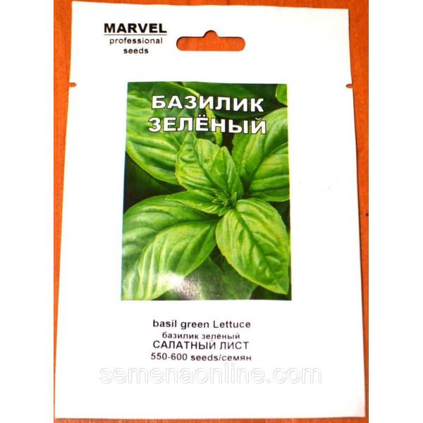 Семена базилика Салатный лист зеленый (Италия), 1 гр