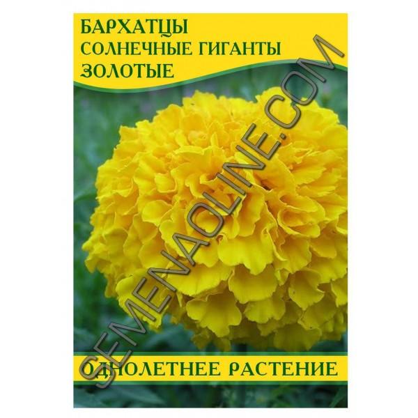 Семена бархатцев Солнечные гиганты Золотые, 0,5кг